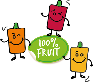 Servero 100% Fruit sticker + Meneer Slurp